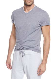 Brunello Cucinelli Men's Tipped Jersey Knit V-Neck T-Shirt