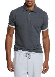 Brunello Cucinelli Men's Trim Layer Polo Shirt