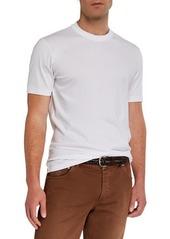 Brunello Cucinelli Men's Two-Tone Trim Crewneck T-Shirt