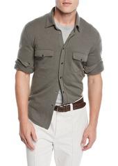 Brunello Cucinelli Men's Western Shirt Cardigan