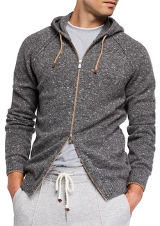 Brunello Cucinelli Men's Wool-Blend Zip Hoodie