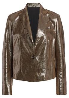 Brunello Cucinelli Metallic Leather Jacket