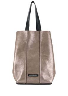 Brunello Cucinelli metallic-print tote bag