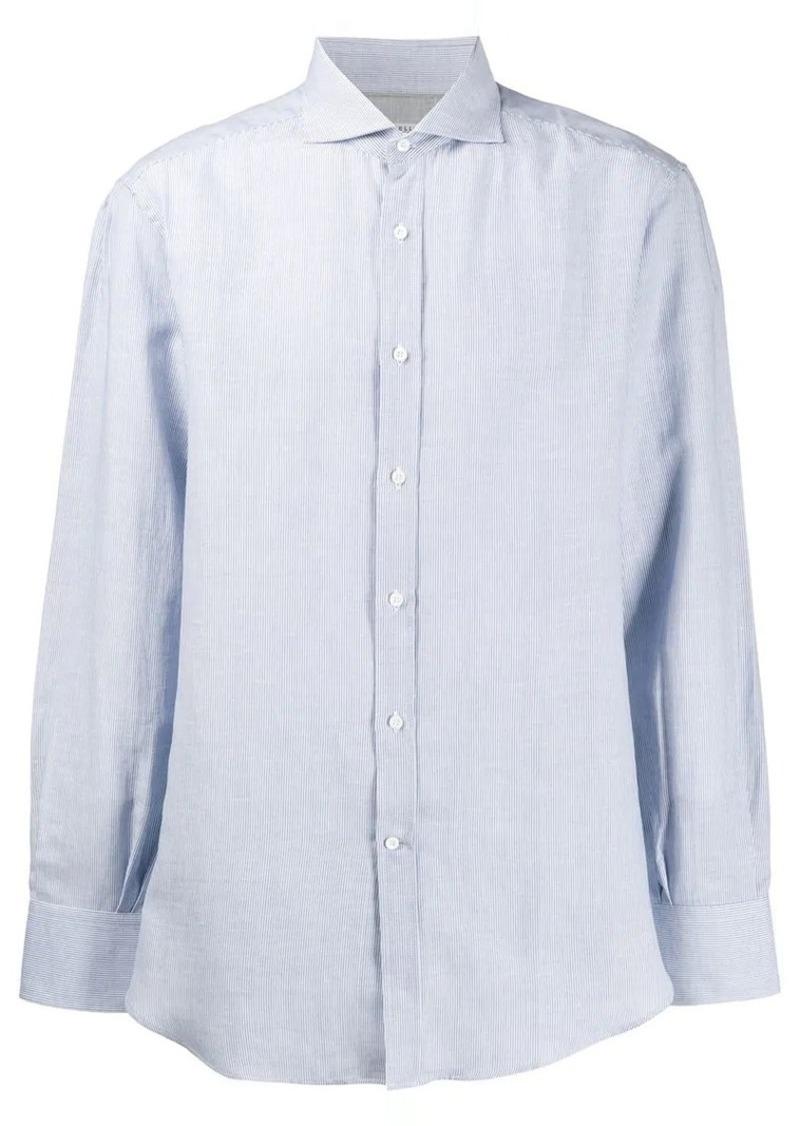 Brunello Cucinelli micro-striped shirt