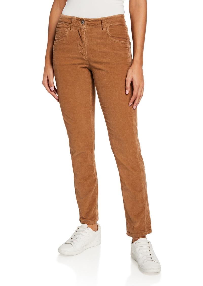 Brunello Cucinelli Micro Wale Corduroy Cotton-Cashmere Pants