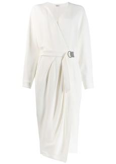 Brunello Cucinelli midi wrap dress