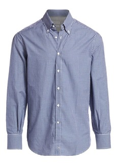 Brunello Cucinelli Mini Check Sport Shirt
