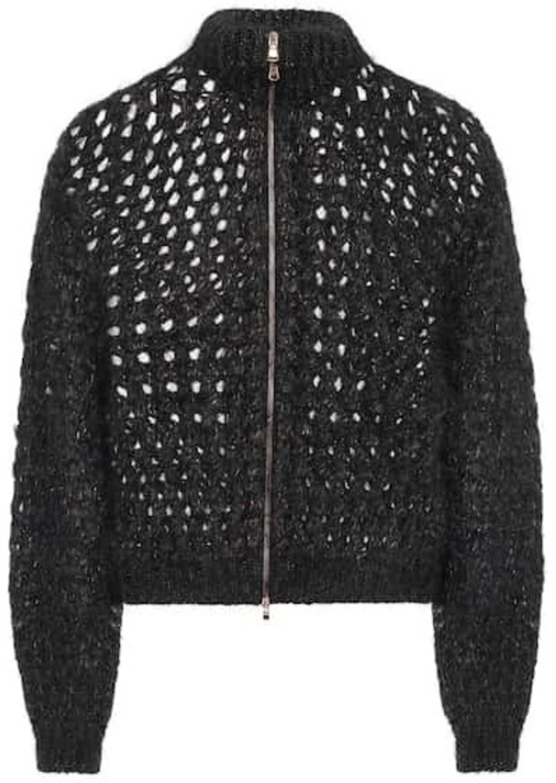 Brunello Cucinelli Mohair and cashmere-blend cardigan