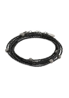 Brunello Cucinelli Monili & Black Spinel Wrap Bracelet & Necklace