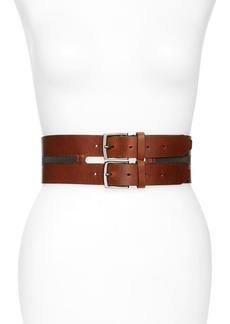 Brunello Cucinelli Monili Bead Leather Corset Belt