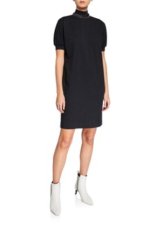 Brunello Cucinelli Monili-Beaded Cotton Jersey Dress