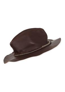 Brunello Cucinelli Monili Beaded Leather Hat
