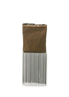Brunello Cucinelli Monili Fringe Crossbody Pouch Bag