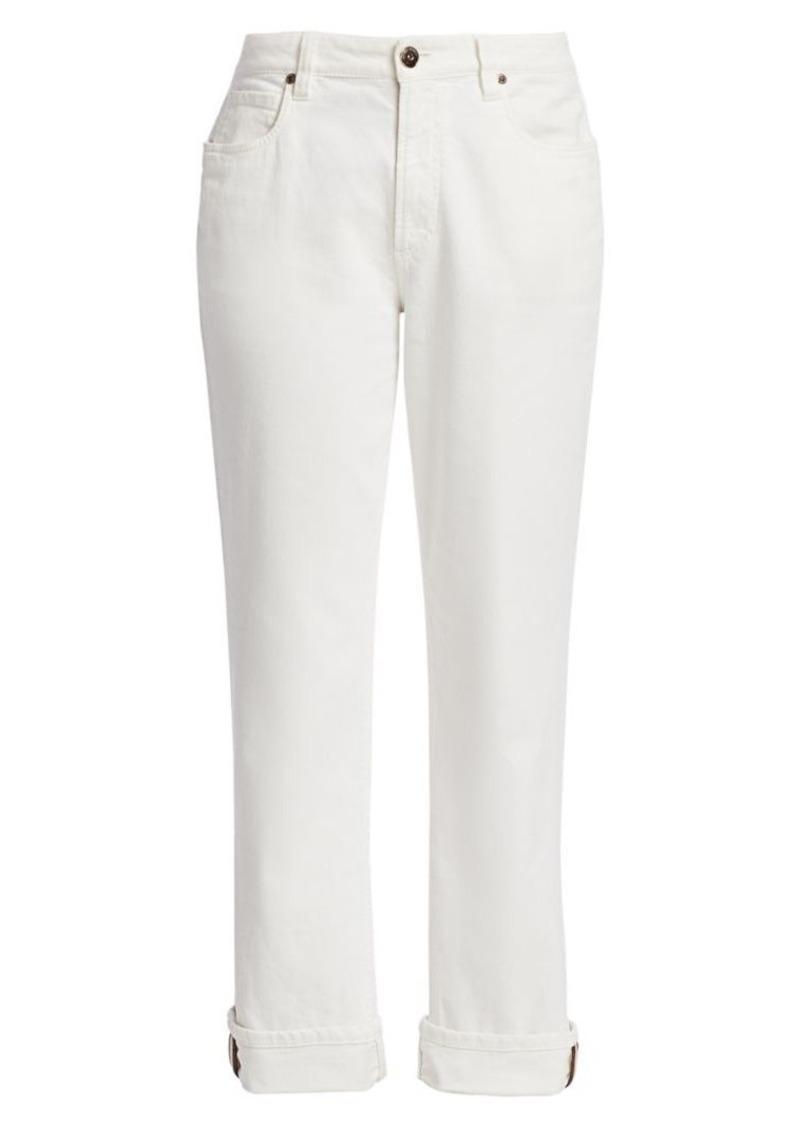 Brunello Cucinelli Monili Tab Cuff Jeans