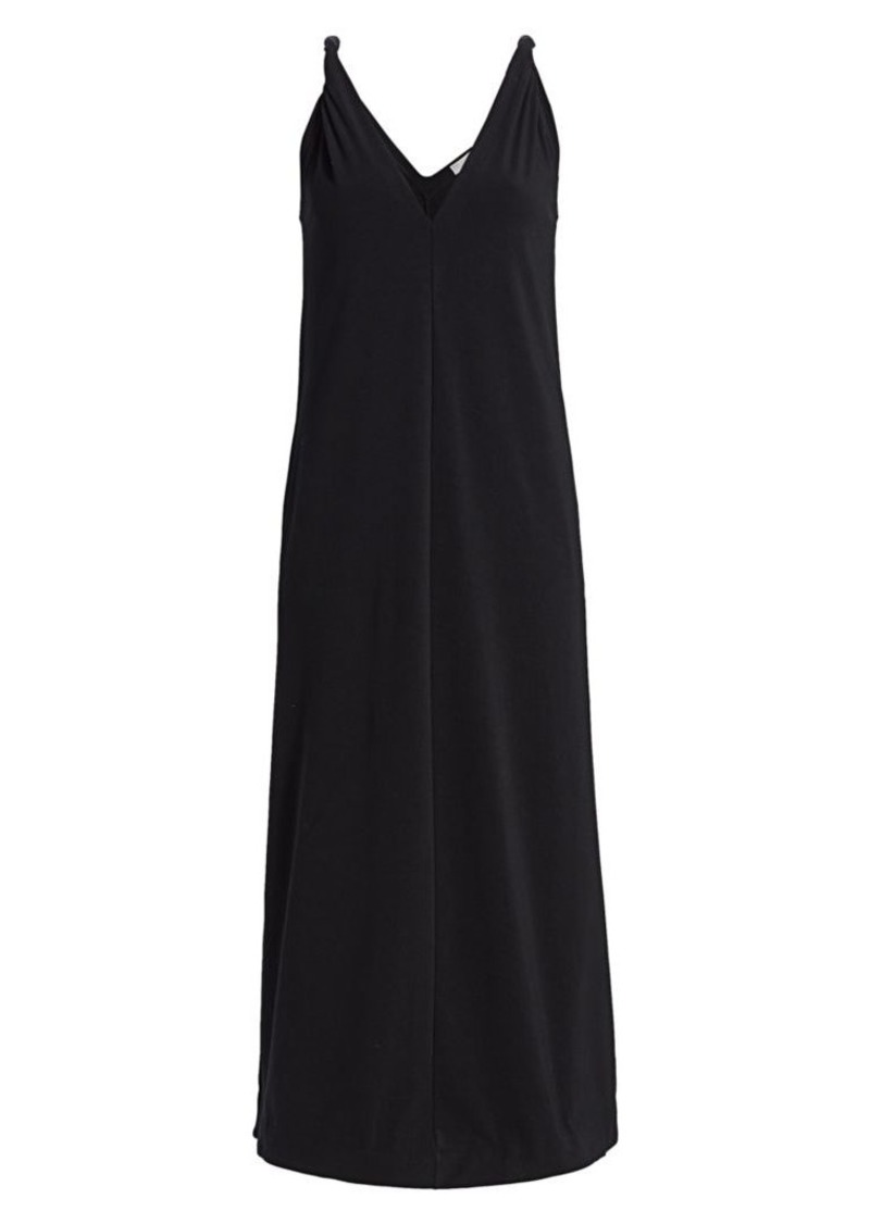 Brunello Cucinelli Monili-Triangle Sleeveless Jersey Dress