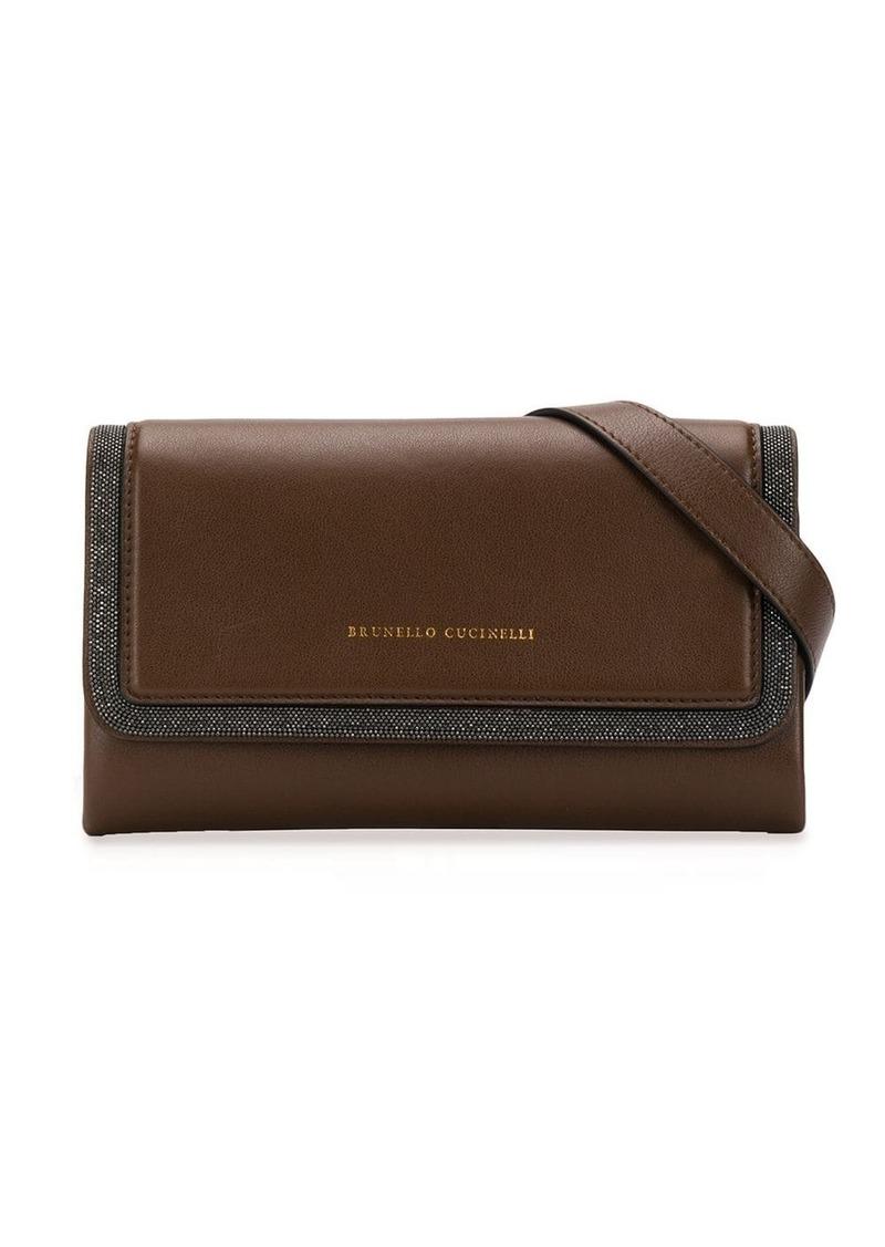 Brunello Cucinelli monili-trimmed shoulder bag