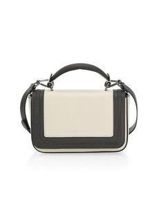 Brunello Cucinelli Monili-Trimmed Colorblock Leather Crossbody Bag