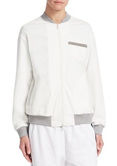 Brunello Cucinelli Monili Zip-Front Jacket