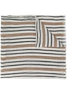 Brunello Cucinelli multi-stripe scarf