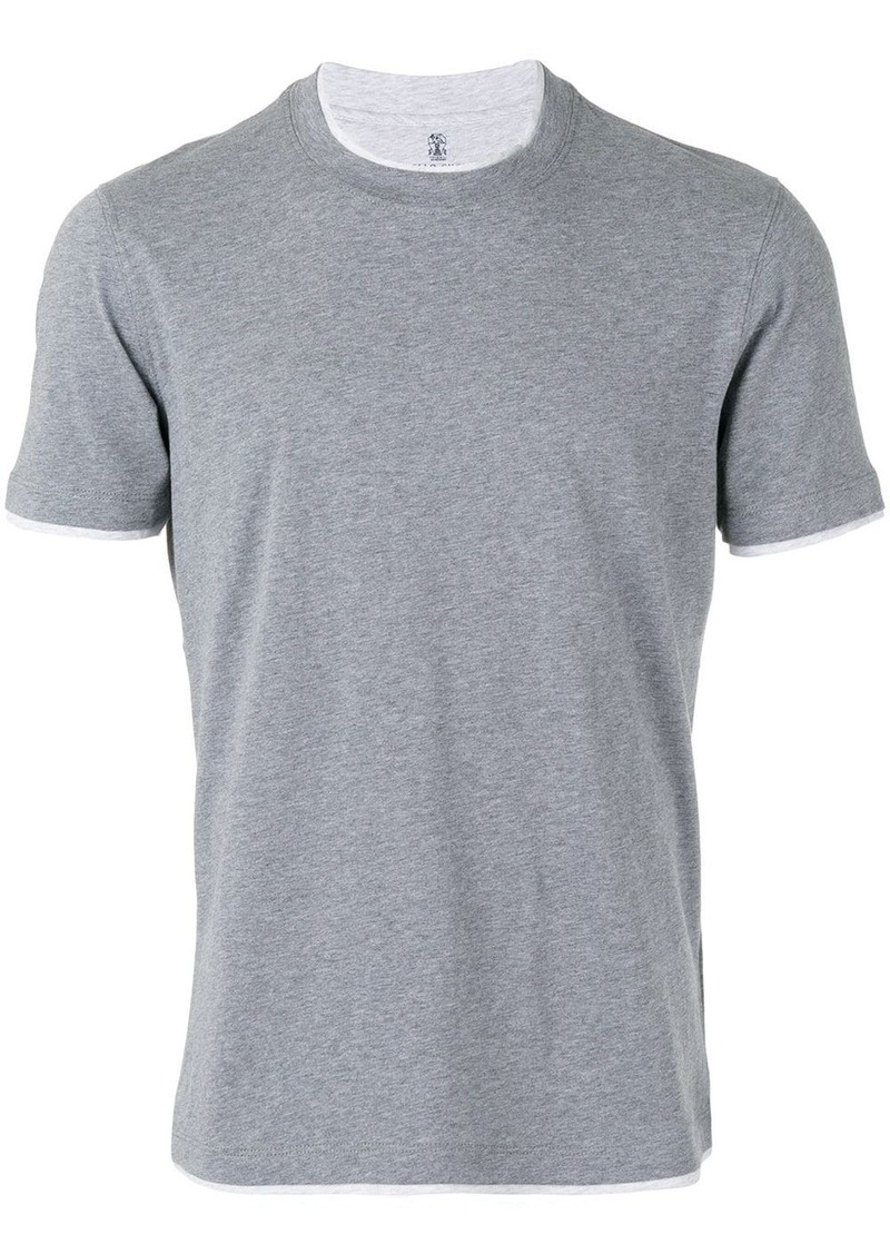 Brunello Cucinelli neck detail T-shirt