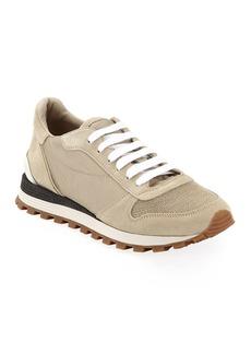 Brunello Cucinelli Nylon Techno Runner Sneakers