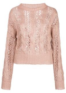Brunello Cucinelli open-knit sequin-embellished jumper