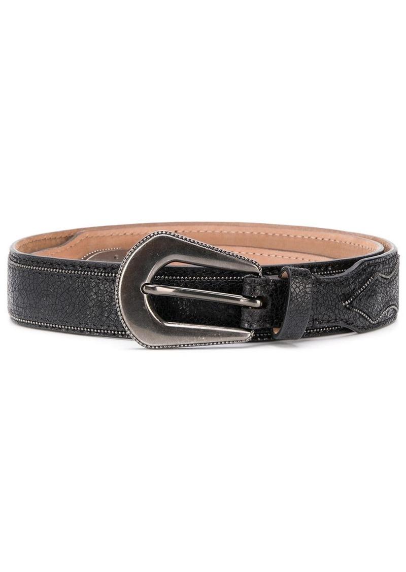 Brunello Cucinelli oversized buckle belt