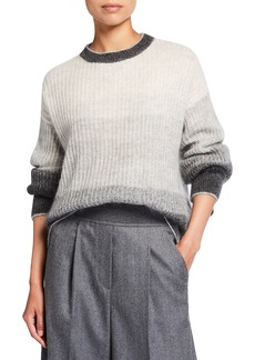 Brunello Cucinelli Oversized Degrade Mohair Sweater