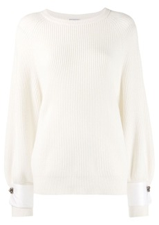 Brunello Cucinelli oversized ribbed knit sweater