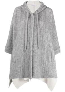 Brunello Cucinelli oversized slub-knit hooded jacket