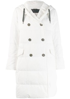 Brunello Cucinelli padded double breasted coat