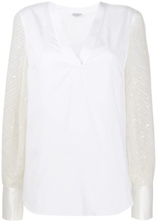 Brunello Cucinelli panelled blouse