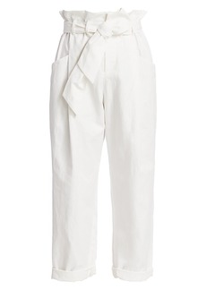Brunello Cucinelli Paperbag Cotton Linen Trousers