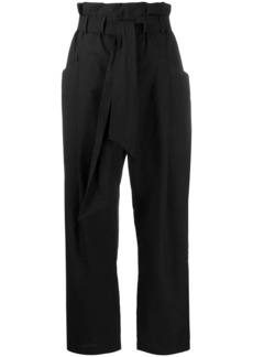Brunello Cucinelli paperbag waist straight-leg trousers