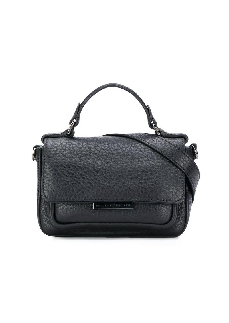 Brunello Cucinelli pebbled mini shoulder bag