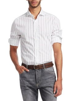 Brunello Cucinelli Pinstripe Button-Down Shirt