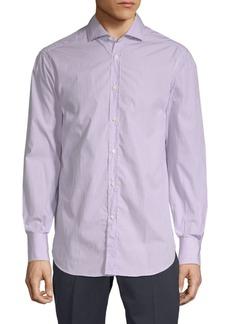 Brunello Cucinelli Pinstripe Cotton Button-Down Shirt