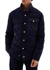 Brunello Cucinelli Pinstripe Wool Shirt Jacket