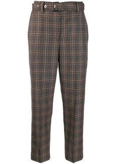Brunello Cucinelli plaid belted trousers