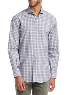 Brunello Cucinelli Plaid Cotton Button-Down Shirt