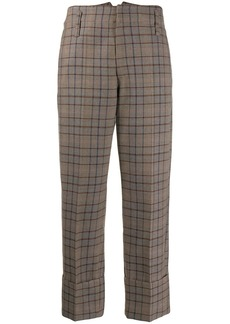Brunello Cucinelli plaid cropped trousers
