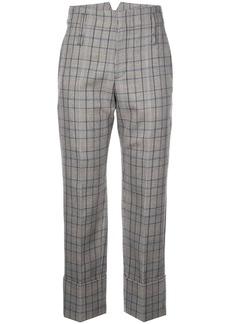 Brunello Cucinelli plaid cuffed trousers