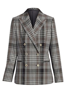 Brunello Cucinelli Plaid Double-Breasted Jacket