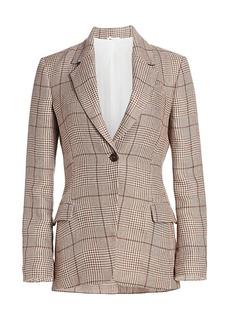 Brunello Cucinelli Plaid Linen Jacket