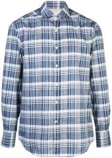 Brunello Cucinelli plaid print shirt