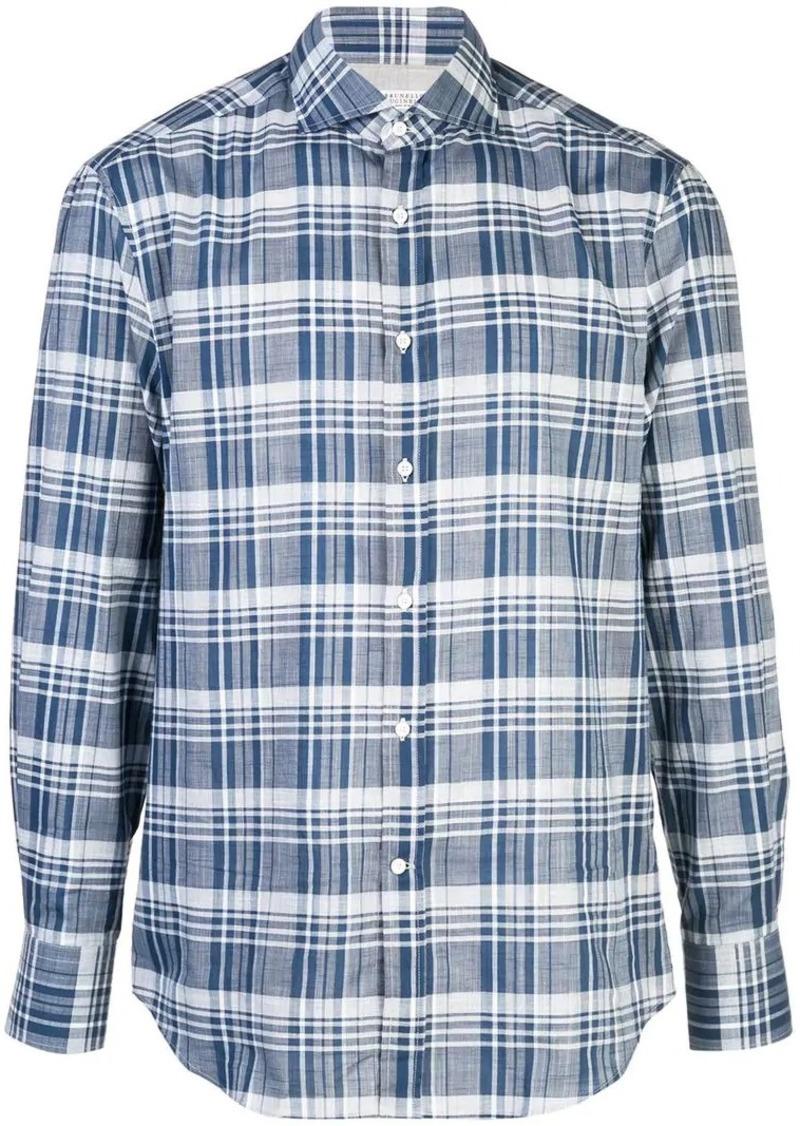 Brunello Cucinelli plaid print shirt