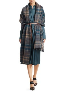 Brunello Cucinelli Plaid Scarf & Belt Set