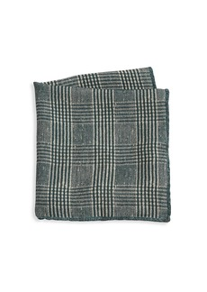 Brunello Cucinelli Plaid Wool Pocket Square