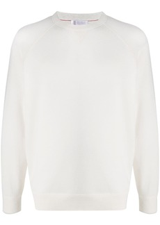 Brunello Cucinelli plain crew neck jumper