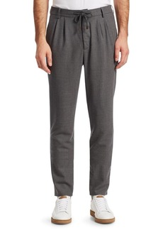 Brunello Cucinelli Pleat-Front Drawstring Cotton Pants